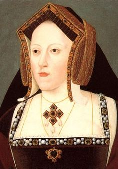 Catherine of Aragon, Henry VIII's first wife (detail). Attributed to Joannes Corvus, National Portrait Gallery, London.