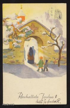 MARTTA WENDELIN Old Ones, Christmas Inspiration, Martini, Illustrators, Fairy Tales, Christmas Cards, Painting, Patterns, Christmas E Cards