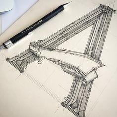 ✏️_A_ #practise #sketch #szkic #typewip #typism #handmadefont #handletter #thedailytype #typegang #handlettering #50words #typeyeah #TYxCA…