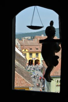 Sighisoara - view from the Clock Tower Bulgaria, Passport, Austria, Places Ive Been, Sweden, Tower, Clock, Europe, Spaces