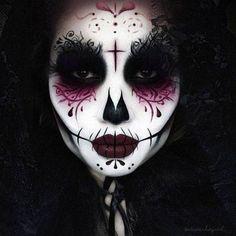 50 Halloween Best Calaveras Makeup Sugar Skull Ideas for Women (9)