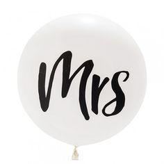 "Ballon blanc ""Mrs"" - 91 cm"