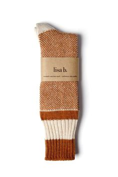 A Fall favorite, Lisa B's birds eye socks take inspiration from vintage wool socks, minus the itch. Super soft and slouchy, they pair nicely with well worn leat