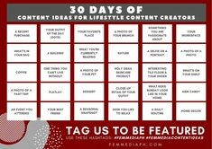 ‼️Attention Lifestyle Content creators‼️ Are you having a hard time being active on social media due to lack of content ideas during the quarantine? We made a calendar for you. Can you do this challenge? 🤔😏  Use #femmediacontentideas to get featured. We'll compile your entries and post it on our page. How does that sound? 😏 Stay active and creative! 🤙  #femmediaph #GoBeyondHorizon #DigitalMarketing Make A Calendar, Business Sales, Stay Active, Digital Marketing, The Creator, Challenge, How To Get, Social Media, Content