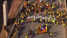 La via catalana a ull d'helicòpter o vista d'ocell - TV3. #ViaCatalana #CatalanWay #Catalunya #Catalonia