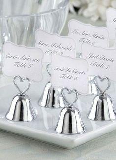 White Bells Wedding Place Card Holders Set of 4 - Wedding Favors - Wedding