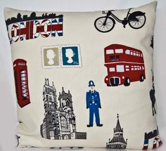 UK Red London Bus Policeman Phone Box  Cover by GreenCallow
