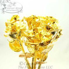 Half Dozen of our Original Gold Roses!