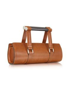 Aznom Carbon Lady Vintage - Brown Leather Baguette Bag with Ergonomic Handles