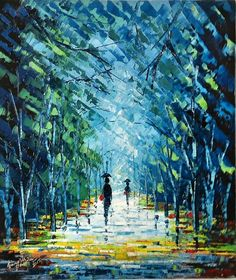 "Oil on vanvas - may 2015 - 16""-20"" - palette knife"