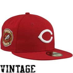 New Era Cincinnati Reds 1970 Cooperstown All-Star Patch 59FIFTY Fitted Hat  - Red bd1b3a5143d8