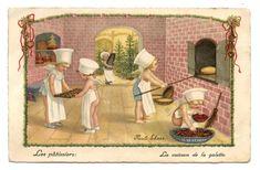 ILLUSTRATEUR PAULI EBNER ENFANTS CHILDREN LES PÂTISSIERS CUISSON DE LA  GALETTE.
