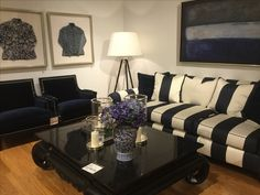 Navy was big in the showrooms of Furnitureland South fall 2016