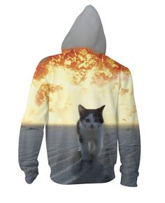 Pin Cat Explosion Zip-Up Hoodie to one of your boards if you like it !