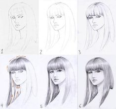 tip to draw hair