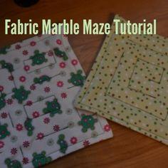 Fabric Marble Maze Tutorial