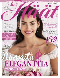 Löydä eleganttien hääkoristeiden tyyli ja askarteluohjeet Häät-lehdestä 1/2015. Osta numero nyt edullisena digilehtenä! http://digilehti.haat.fi/#!/issue/3
