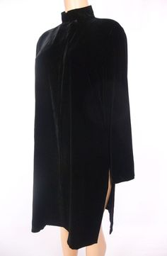 EILEEN FISHER Dress Jacket Size S Black Velvet Cover Up Soft Silk Lined Coat #EileenFisher #BasicJacket