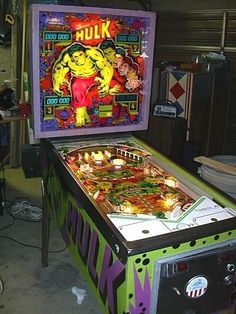 Any Marvel or Incredible Hulk fans have this pinball machine as part of their collection? If you or someone you know is in need of pinball repairs contact me at pinwiz19bob@gmail.com #pinball #pinballmachine #pinballgame #game #repairs #restore #retro #oldschool #pinballwizard #passion #entreprenuer #fun #drpinball #marvel #comics #hulk