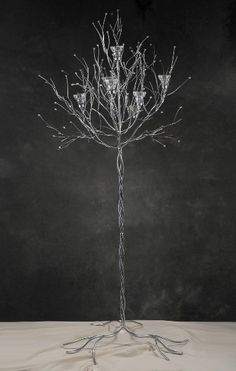 5 foot silver candle tree - so pretty!