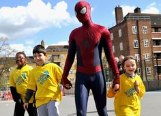 Andrew Garfield Surprises Kids as Spider-Man for Charity