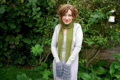 *moss & bluebell pocket scarf* | tiny owl knits