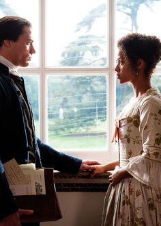 Sam Reid & Gugu Mbatha-Raw in 'Belle' Historical Romance, Historical Fiction, Historical Clothing, Jane Austen, Belle Movie, Sam Reid, Film Movie, Movies, Black Costume