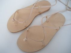 LACE UP SANDALS. by tuto on Etsy