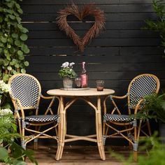 Natural Rattan Café Table