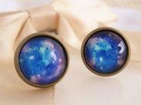 Buy Vintage Blue Sky Gem Stud Earrings at Wish - Shopping Made Fun Hipster Jewelry, Gemstone Rings, Bling, Stud Earrings, Sky, Turquoise, Accessories, Vintage, Heaven