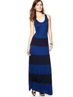 Colorblock maxi tank dress | Gap