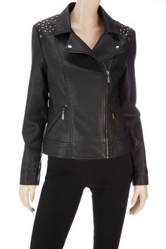 leather jacket with studs