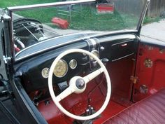1931/32 Ford Model A Roadster Hot Rat Rod Flathead interior