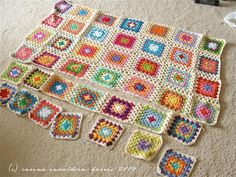 How can you be grumpy when looking at a blanket of granny square?
