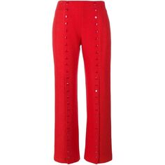 Rosie Assoulin Shes Come Undone Trousers (81 125 UAH) ❤ liked on Polyvore featuring pants, red, rosie assoulin, red trousers and red pants