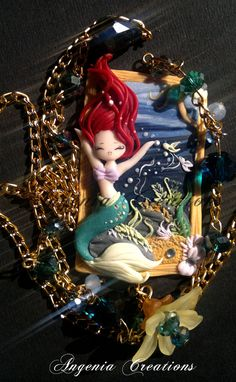 Polymer Clay: Ariel Charm; from The Little Mermaid