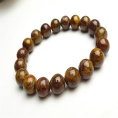 10mm Genuine Namibia Yellow Pietersite Round Bead Stretch Mens Bracelet Jewelry Elastic Charm Natural Stone Bracelet