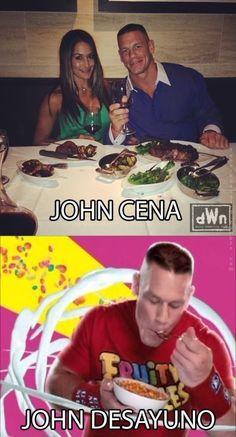 Esto es relevante debido al uso de vocabulario de comida español y el popular meme de John Cena.