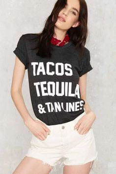 Private Party Tacos Tequila and Tanlines Graphic Tee - Tops