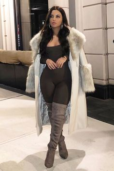 Sexy Winter Outfits, Cute Casual Outfits, Boujee Outfits, Fall Outfits, Leggings And Heels, Jumpsuits For Women, Sweaters For Women, Bikinis, Thigh High Boots Dress