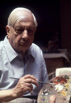 Giorgio de Chirico pintor italiano nacido en Grecia de padres italianos. De Chirico es reconocido entre otras cosas por haber fundado el movimiento artístico scuola metafisica.