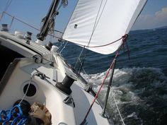 Under sail Sailing Ships, Boat, Dinghy, Boats, Sailboat, Tall Ships, Ship