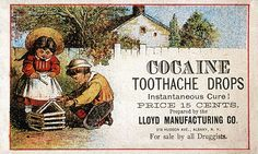 Cocaine was marketed openly as an anaesthetic after its painkilling benefits were discovered in the 1900s. It was only once it had become widely available in pharmacies that its psychoactive properties became apparent