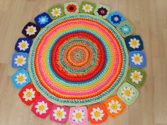 Alegre alfombra a crochet