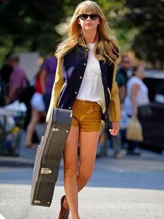 Fashion Style: Jacket, Tshirt and Shorts