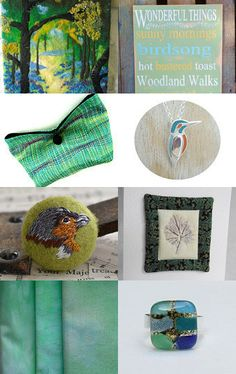 shelkesthis featured my hand dyed green fabrics