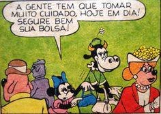 Minie e Clarabela vão ao teatro, ilustração de Walt Disney.