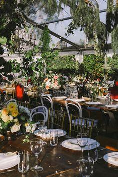 garden wedding reception - photo by Lara Hotz http://ruffledblog.com/a-garden-greenhouse-wedding-in-australia #weddingreception #weddingideas #gardenwedding