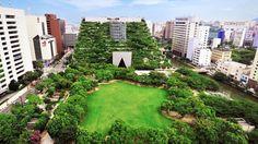 O local da construção era o último espaço verde restante no centro da cidade.