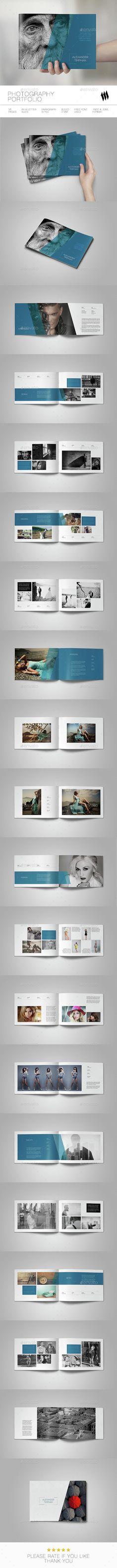 Photography Portfolio Brochure Template InDesign INDD. Download here: http://graphicriver.net/item/photography-portfolio/14869320?ref=ksioks